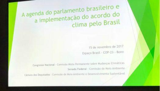 Parlamentares brasileiros recebem carta do setor privado na COP23